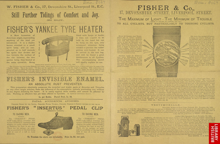 Advert For Fisher & Co., Cycling Store